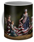 Americana - Flag - Birth Of The American Flag 1915 Coffee Mug