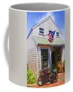 Bike And Usa Flag - Americana Series 04 Coffee Mug