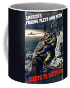 America's Fishing Fleet And Men  Coffee Mug by War Is Hell Store
