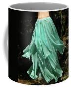 Ameynra Design Aqua-green Chiffon Skirt Coffee Mug