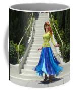 Ameynra Fashion. Petal Skirt. Model Sofia Coffee Mug