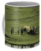 Amish Buggies Anchor A Volleyball Net Coffee Mug by Ira Block