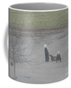 Amish Children Play Outside In The Evening Coffee Mug