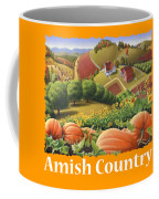 Amish Country T Shirt - Pumpkin Patch Country Farm Landscape 2 Coffee Mug