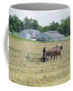 Amish Girl Raking Hay As Painting Coffee Mug