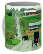 Amish Horse And Buggy Farm Coffee Mug