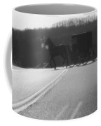 Amish Horse And Buggy In Winter Coffee Mug