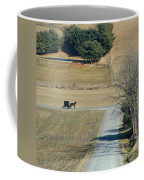 Amish Horse And Buggy On A Country Road Coffee Mug