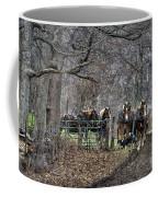 Amish Horses In Harness Coffee Mug