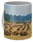 Amish Making Grain Shocks Coffee Mug