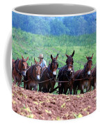 Amish Plowing The Fields With Mules Coffee Mug
