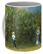 Amish Siblings In Cornfield  Coffee Mug