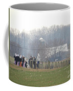 Amish Youth Gather After A Volleyball Game Coffee Mug