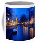 Amsterdam - A Canal Scene At Night . L B Coffee Mug