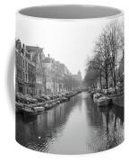Amsterdam Canal Black And White 2 Coffee Mug