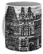 Amsterdam Woodcut Coffee Mug