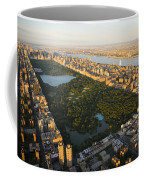 An Aerial View Of Central Park Coffee Mug by Michael S. Yamashita