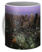 An Aerial View Of Ground Zero Coffee Mug by Ira Block