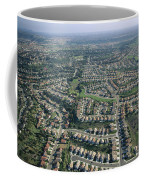 An Aerial View Of Urban Sprawl Coffee Mug