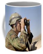 An Afghan Commando Scans The Horizon Coffee Mug