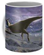 An Albino Carnotaurus Surprising Coffee Mug