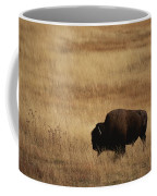 An American Bision In Golden Grassland Coffee Mug by Michael Melford