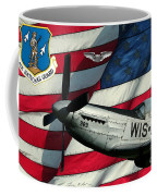 An American F-51 Ang Coffee Mug