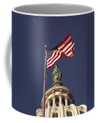 An American Flag And The Statue Coffee Mug by Medford Taylor