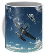 An American P-51 Mustang Gives Chase Coffee Mug