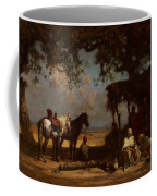 An Arab Encampment Coffee Mug by Gustave Guillaumet