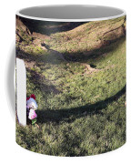 An Arlington Grave With Flowers And Shadows Coffee Mug
