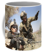 An Army Soldier Informs A Marine Coffee Mug