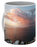 An Early Morning View From A Balcony In Positano, Campania, Ital Coffee Mug