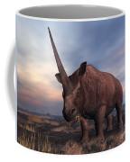 An Elasmotherium Grazing Coffee Mug