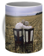 An Elderly Couple Embrace Coffee Mug