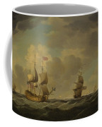 An English Flagship Under Easy Sail In A Moderate Breeze Coffee Mug