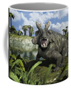 An Estemmenosuchus Mirabilis Stands Coffee Mug