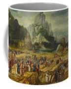 An Extensive Landscape With The Preaching Of Saint John The Baptist And The Baptism Of Christ Coffee Mug