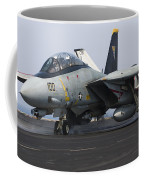 An F-14d Tomcat Launches Off The Flight Coffee Mug