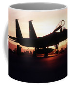 An F-15c Eagle Aircraft Silhouetted Coffee Mug by Stocktrek Images