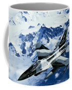 An F-15c Falcon From The 18th Aggressor Coffee Mug