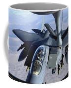 An F-15e Strike Eagle Refuels Over Iraq Coffee Mug