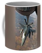 An F-16 Fighting Falcon Receiving Fuel Coffee Mug