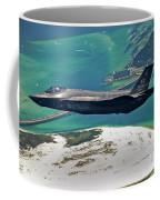 An F-35 Lightning II Flies Over Destin Coffee Mug