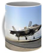 An F-35b Lightning II Lifts Coffee Mug