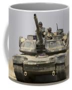An M1a1 Abrams Tank Heading Coffee Mug