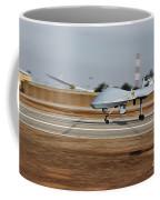 An Mq-1c Sky Warrior Uav Lands At Camp Coffee Mug by Stocktrek Images