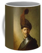 An Old Man In Military Costume Coffee Mug