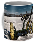 An Old Mower In The Snow Coffee Mug