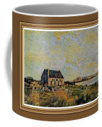 An Old Scottish Cottage Overlooking A Loch  L A S  With Decorative Ornate Printed Frame. Coffee Mug